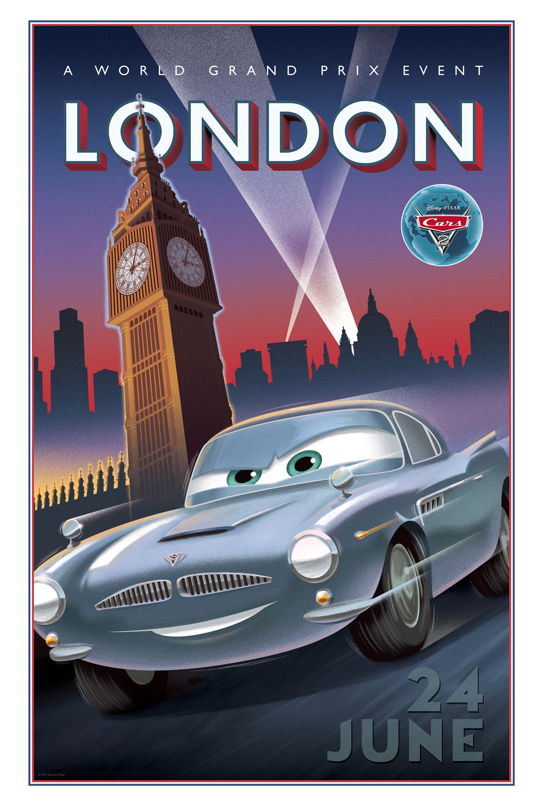 Cars 2 Goes Retro with Some Sweet World Grand Prix Posters