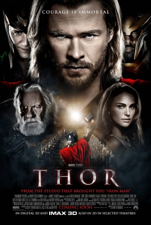 New Posters for THOR, Pirates of the Caribbean and Warrior