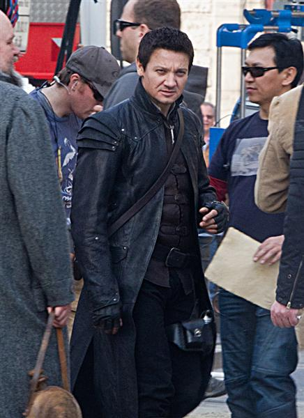 Set photos of Jeremy Renner and Gemma Arterton in Hansel & Gretel: Witch Hunters
