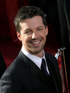 Sean Hayes is The Three Stooges' Larry?