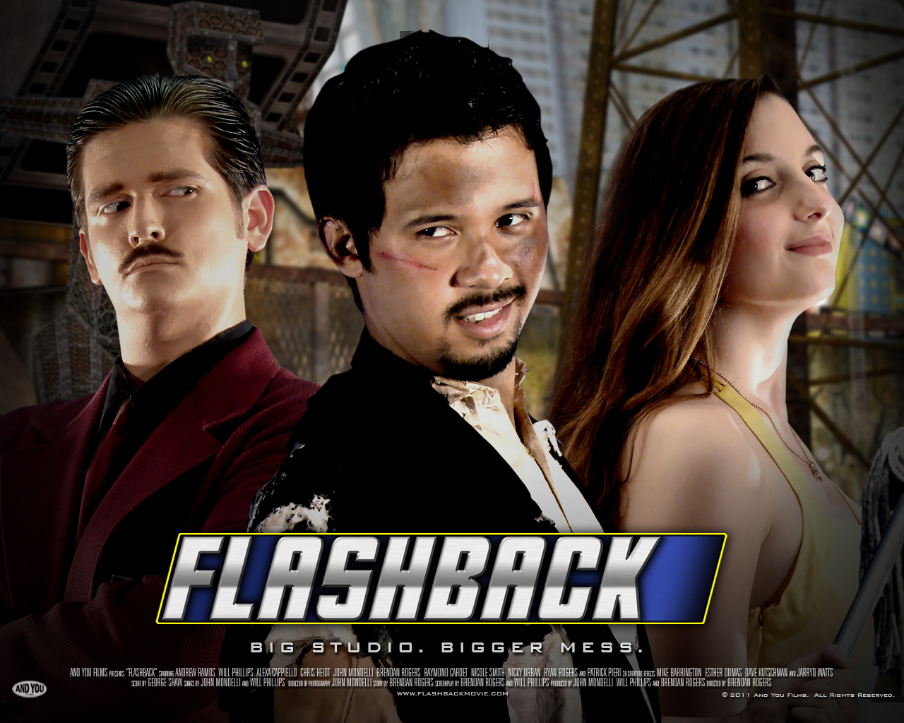 The Trailer for FLASHBACK has Movies Spoofs, Sci-Fi, and Good Low Budget Effects
