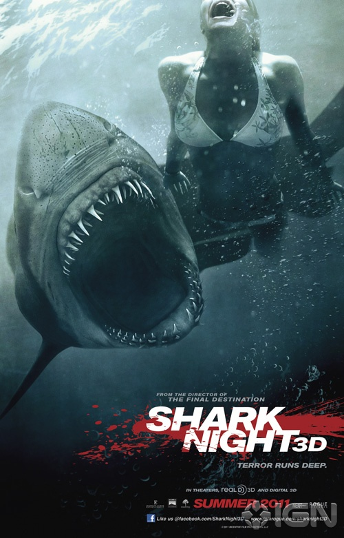 Chomp Chomp! The Poster for SHARK NIGHT 3D Shows Off it's Sharp Teeth