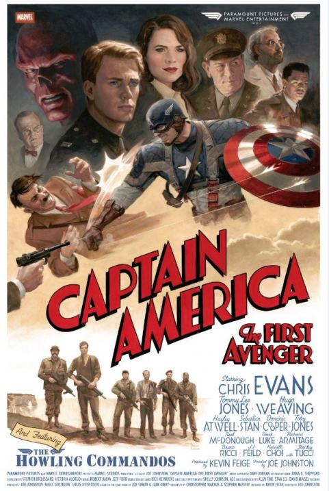 Check Out the New, Awesomely Vintage Style 'Captain America' Poster