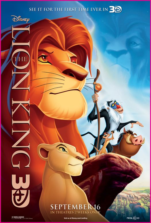 3d movie poster 202x300 movie review the lion king 3d is 1