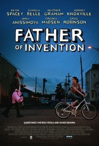 father of invention poster 203x300 Movie Review: Kevin Spacey is the Father of Invention