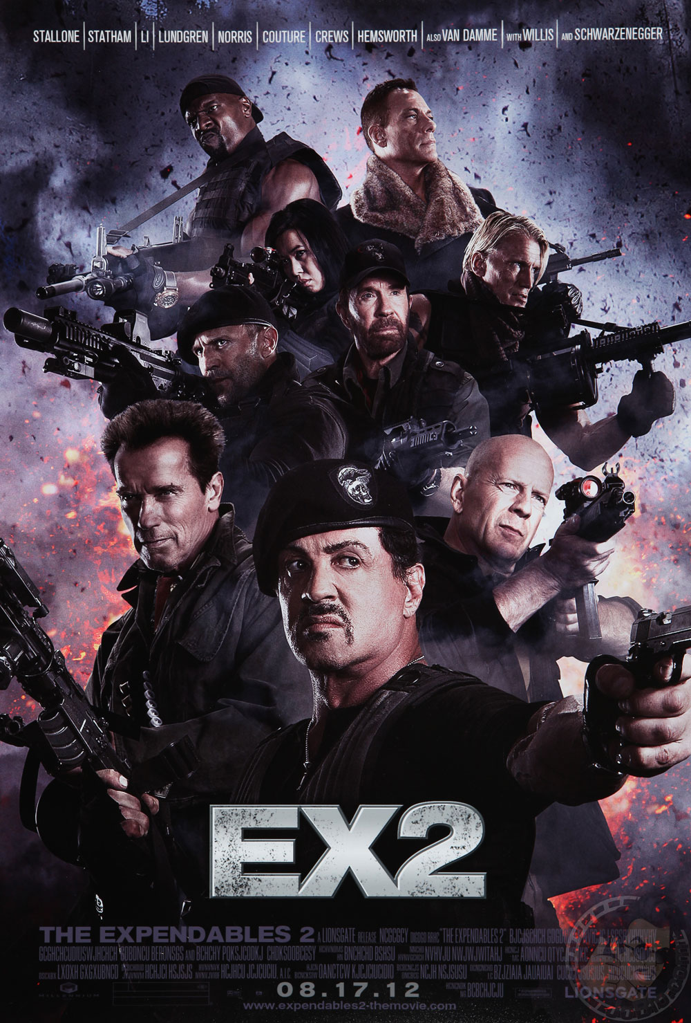 expend2 poster 1 The Expendables 2 Official Poster Reavels the Most Powerful Image EVER.
