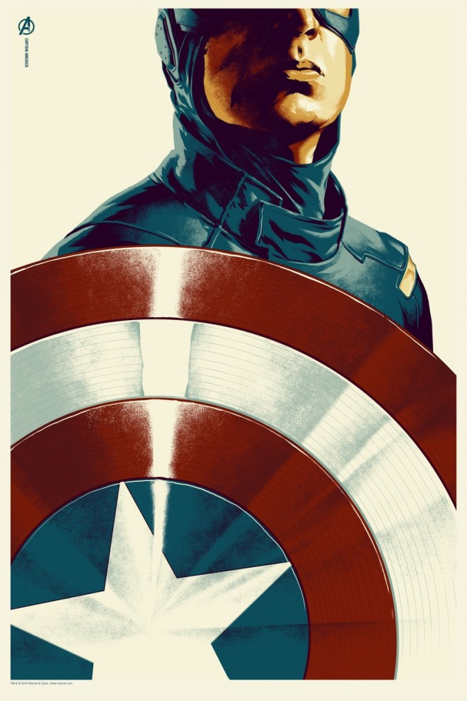Captain America Mondo Four More of The Avengers Posters by Mondo have been Announced