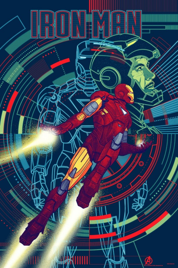 Iron Man Mondo 610x915 Four More of The Avengers Posters by Mondo have been Announced