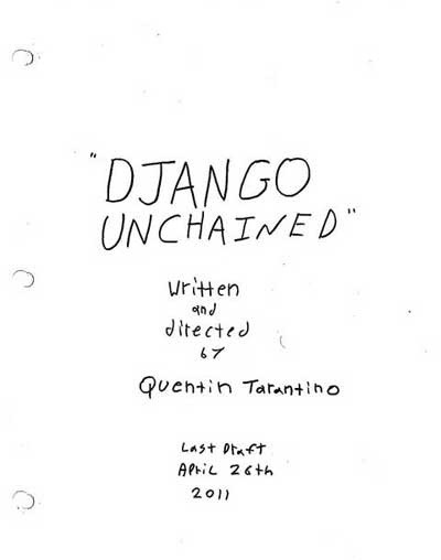 Simple Teaser Poster for Tarantino's 'Django Unchained'