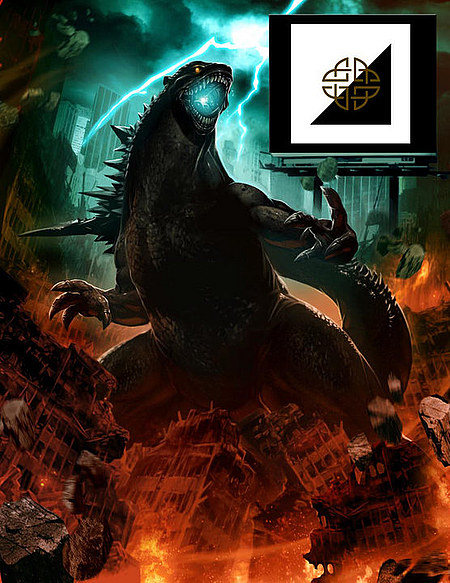 LOOK………. IT'S GODZILLA at SDCC '12!