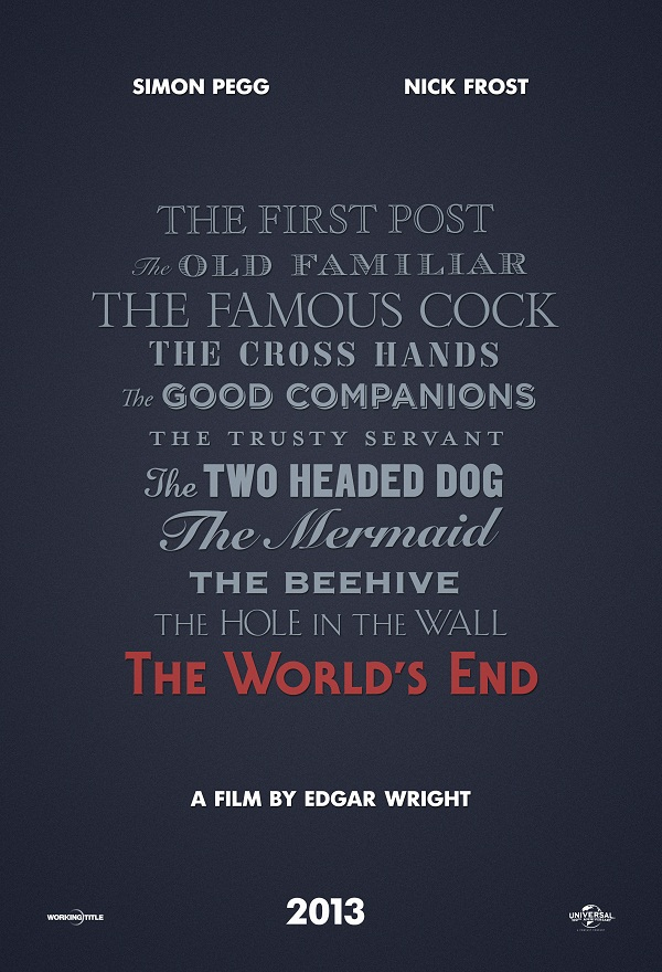 Latest Teaser Poster for Edgar Wright's 'The World's End'