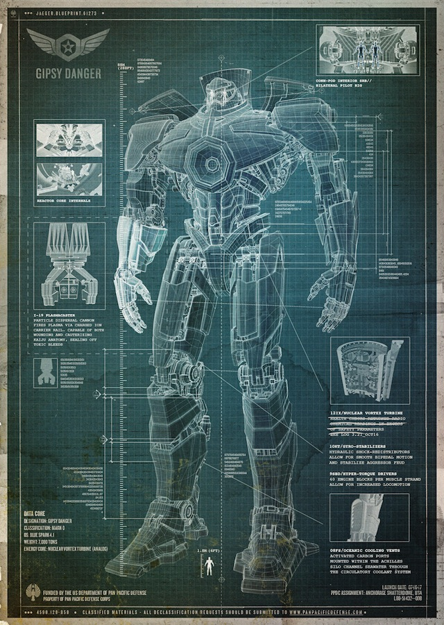 Pacific Rim Viral Content Unleashed! Robot Blueprints, a Dead Kaiju and more! [UPDATED]