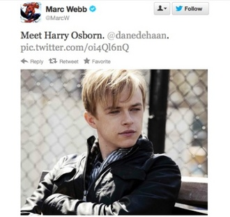 Dane DeHaan is set to play Harry Osborn in 'The Amazing Spider-Man 2′