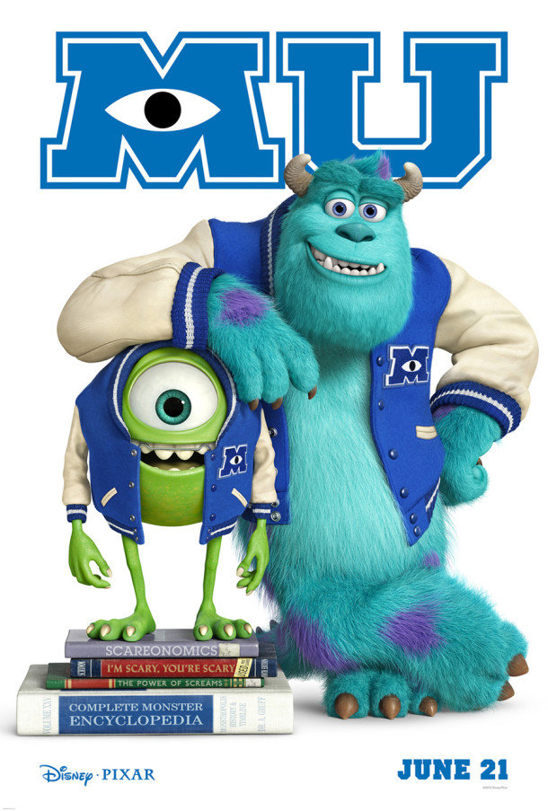 Monsters University poster 610x903  Has Disney Animation Been Stealing Pixars Animated Magic?