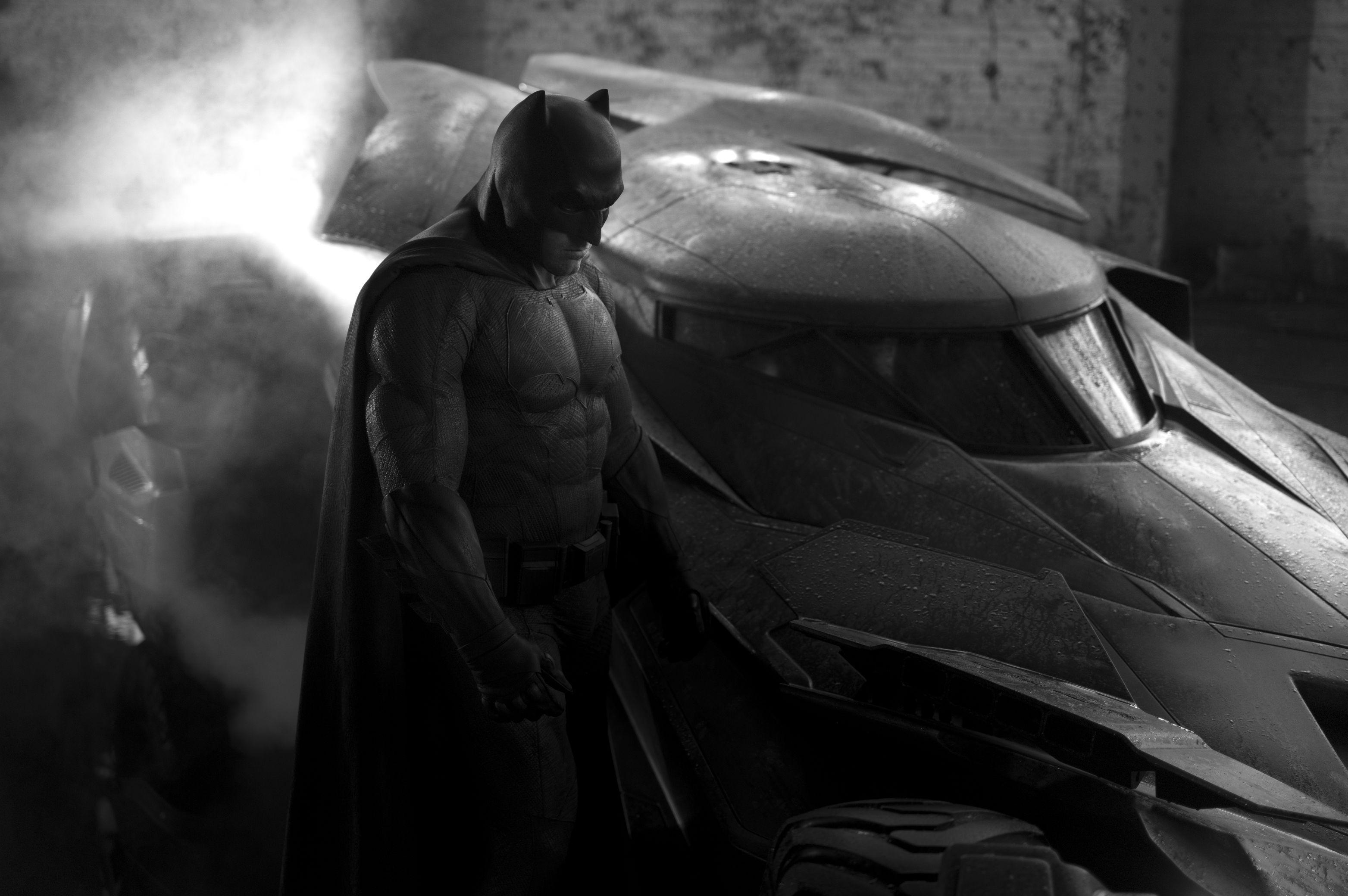 Zack Snyder Reveals First Photo of Ben Affleck as Batman and the 'Batman vs. Superman' Batmobile!